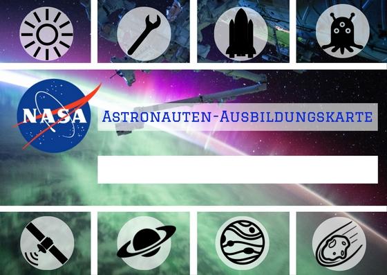 Astronauten-Ausbildungskarte
